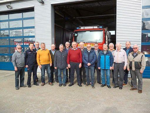 Im Feuerwehrhaus Frommern haben sich die Vertreter der Feuerwehr-Altersabteilungen zur Hauptversammlung getroffen.  Foto: Zimmermann Foto: Schwarzwälder Bote