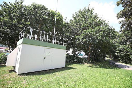 Diese Station im Unteren Dammweg in Villingen misst die Ozonwerte. Foto: Ech