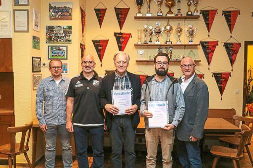 Die Führungsriege des VfL Hochdorf (von links):  Andy Hänisch, Enzo Cicero, Manfred Seeger, Marco Gack und  Paul Huber.   Foto: Geisel Foto: Schwarzwälder Bote