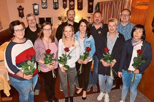 Die Buchenbronner Hexen ehrten Mitglieder für 20, 25 und 33 Jahre Treue.   Foto: Stangenberg Foto: Schwarzwälder Bote