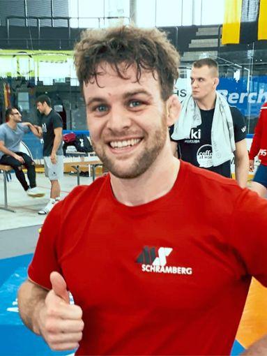 Ja - Ziel erreicht! Fabian Reiner vom KSV Tennenbronn kehrt mit einer Medaille von Aktiven-DM heim.  Foto: Moosmann Foto: Schwarzwälder Bote