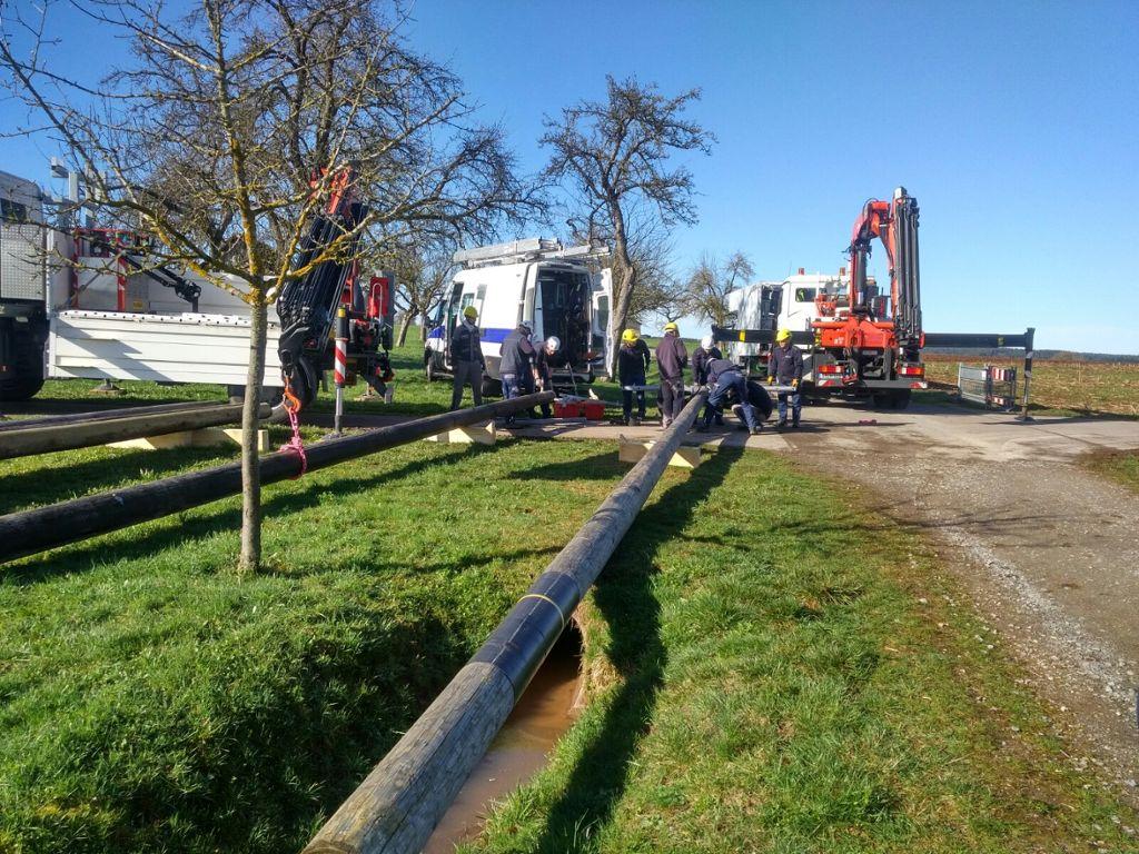 Altensteig: Nach Unfall mit Heißluftballon: Stromleitung ist ...