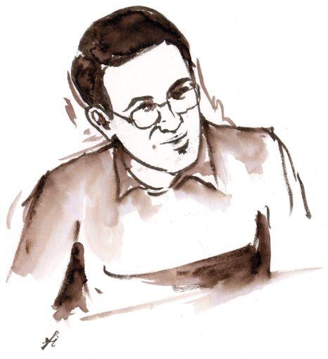 Der Angeklagte Mohammed O. am ersten Verhandlungstag.  Foto: Gerichtszeichnung: Rainer Simon