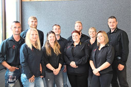 Die neue Vorstandschaft der Narrenzunft Bisinger Butzen.  Foto: Wahl Foto: Schwarzwälder Bote