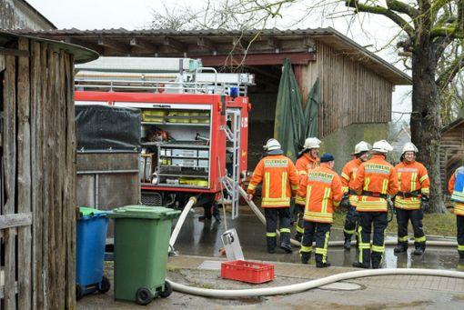 Die Feuerwehr brachte das Feuer rasch unter Kontrolle. Foto: Kreisfeuerwehrverband Calw