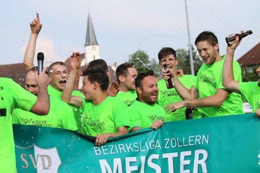 Der Meister der Bezirksliga hatte allen Grund zu Feiern. Foto: Kara
