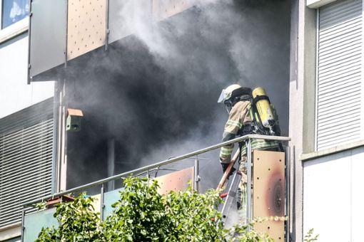 Die Feuerwehr hatte den Brand schnell unter Kontrolle. Foto: Marc Eich
