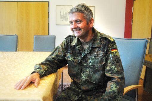 Alexander Sollfrank, Kommandeur des Kommando Spezialkräfte in Calw, plädiert für einen sachlichen Umgang mit echten und vermeintlichen Skandalen. Foto: Klormann