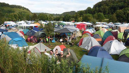 Der Campingplatz des Mini-Rock-Festivals, hier soll die Tat stattgefunden haben.  Foto: Hopp