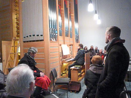 Die Teilnehmer der Orgelwanderung lernten die Vorzüge der unterschiedlichen  Altensteiger Instrumente kennen.  Foto: Kosowska-Németh Foto: Schwarzwälder Bote