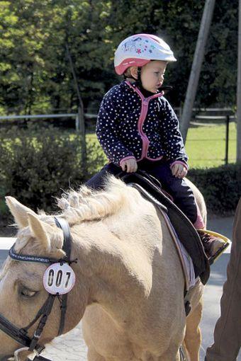 Die Kindergartenkinder besuchen die Lehrpferde und Ponys.   Foto: Annika Müller Foto: Schwarzwälder Bote