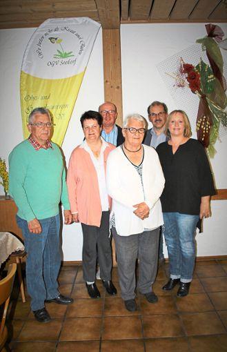 Kreisverbandsvorsitzender Hermann Erath mit den Geehrten (von links): Angelika Werner, Hans Roth, Renate Merz, Harald Schmid  und Kerstin Sänger   Foto: Haag Foto: Schwarzwälder Bote