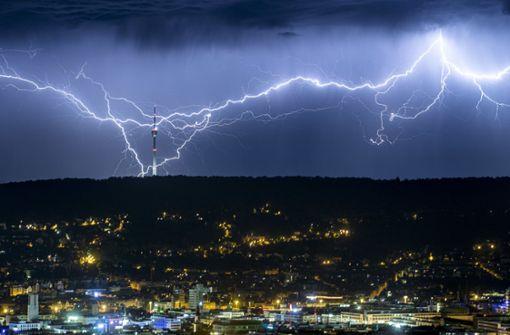 Schwere Gewitter wüteten am Freitagabend über Süddeutschland. (Symbolbild) Foto: dpa