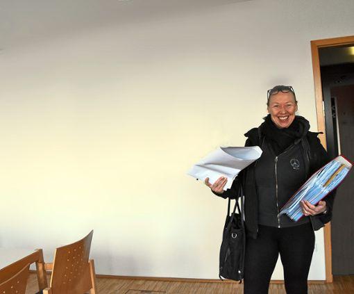 Fridi Miller im Verwaltungsgericht Freiburg – das Urteil ist noch immer nicht zugestellt.   Foto: Spitz