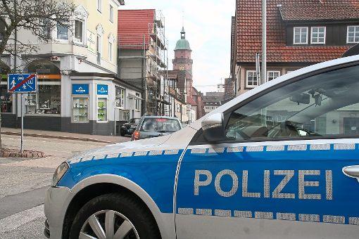 Die Beamten stoppten die Frau in der Innenstadt von Freudenstadt. Foto: Rath