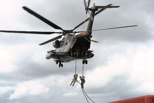 Soldaten des Kommandoes Spezialkräfte (KSK) bei einer Übung.   Foto: Archiv: Fritsch