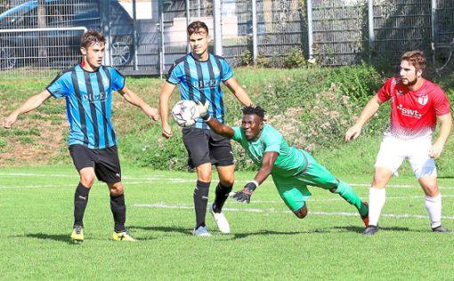 Bubacarr Sanyang könnte im Heimspiel gegen den TSV Essingen wieder im Tor der Nagolder stehen. Foto: Kraushaar