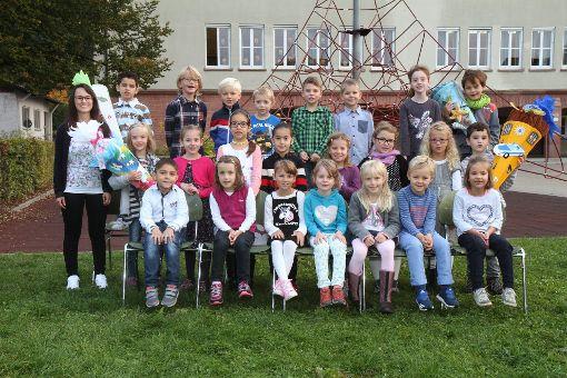 Klasse 1a, Wilhelm-Münster-Schule Baiersbronn, mit Klassenlehrerin Frau Günter. Foto: Fotostudio Caparella