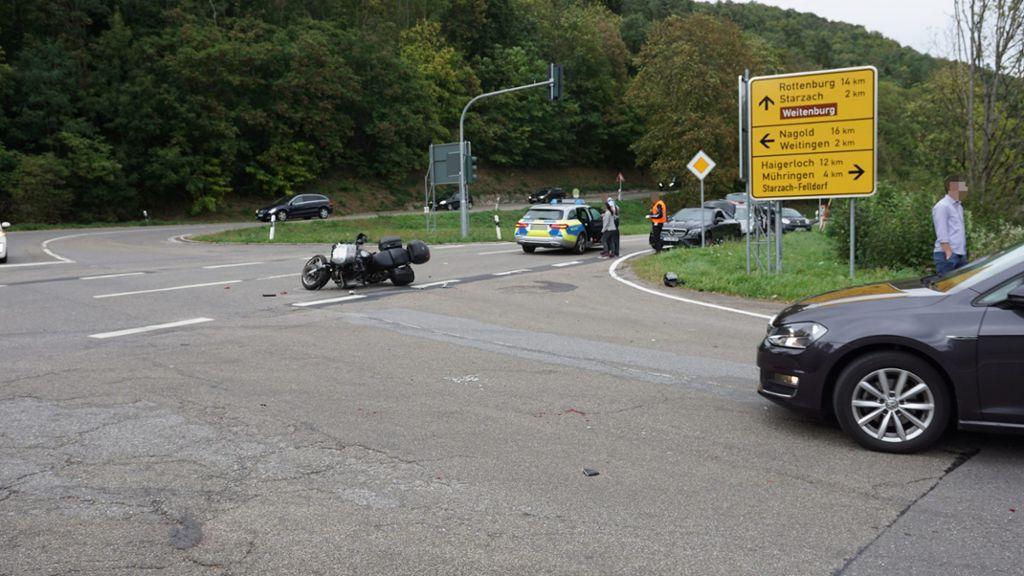 Motorradunfall Baiersbronn