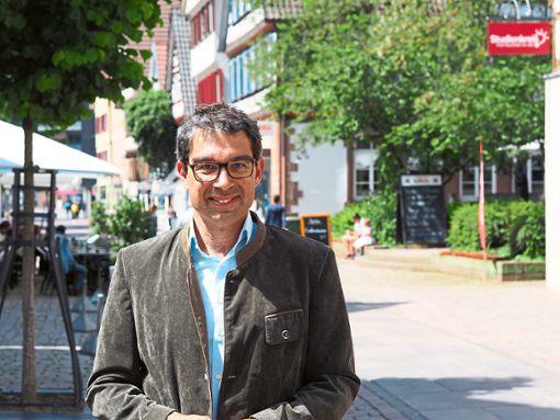 Andre Baumann (Grüne), Umweltstaatssekretär: Wir fördern und fordern 90-Zentimeter-Zäune.  Foto: Mutschler