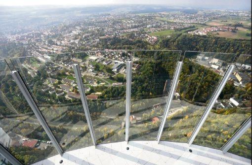 Deutschlands höchste Aussichtsplattform auf dem Rottweiler Testturm ist für Besucher geöffnet