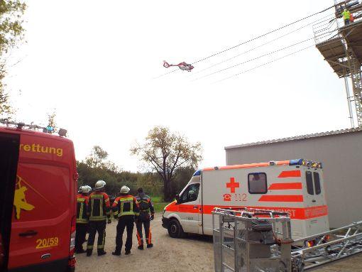 Glück im Unglück: Dem am Dienstag verletzten Arbeiter geht es besser. Foto: Schnurr