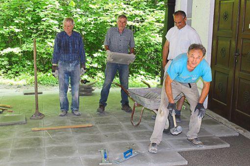 Nico Sieler (von links), Egon Müller, Markus Vöhrenbach und Alfred Nisch  Foto: Ranft Foto: Schwarzwälder Bote