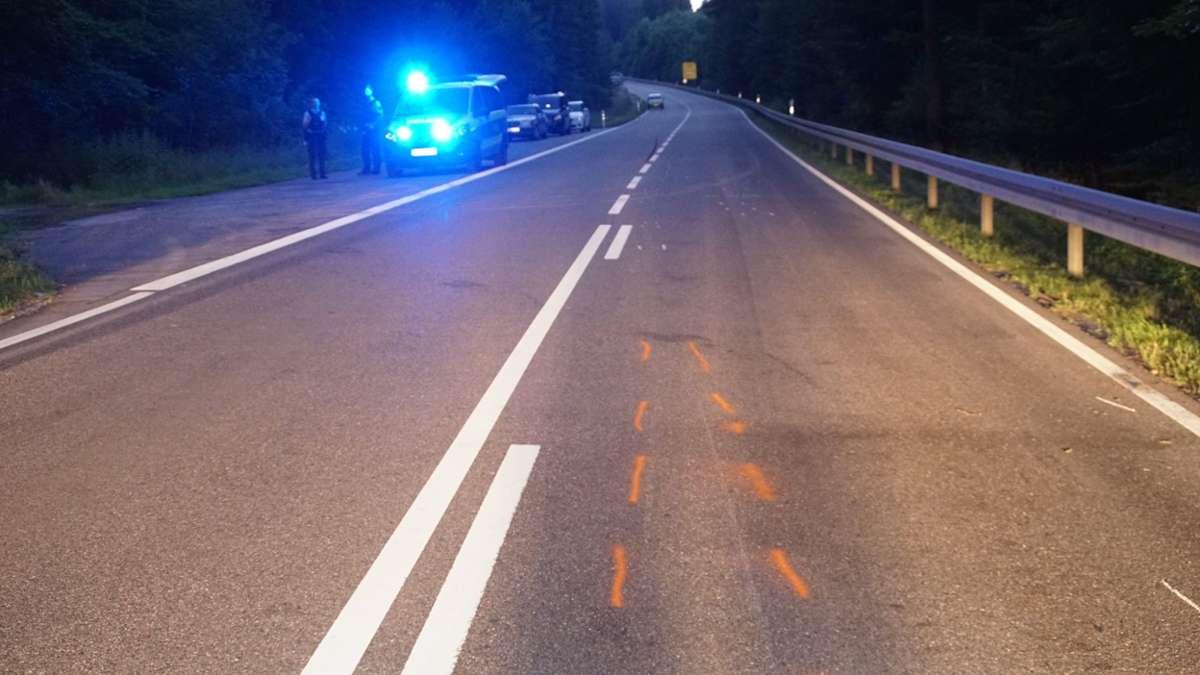 Der Motorradfahrer ist bei dem Unfall tödlich verunglückt. Foto: SDMG / Gress