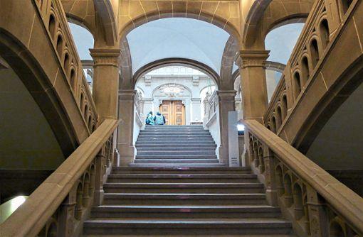 Der Prozess läuft am Landgericht Tübingen.  Foto: M. Bernklau Foto: Schwarzwälder Bote