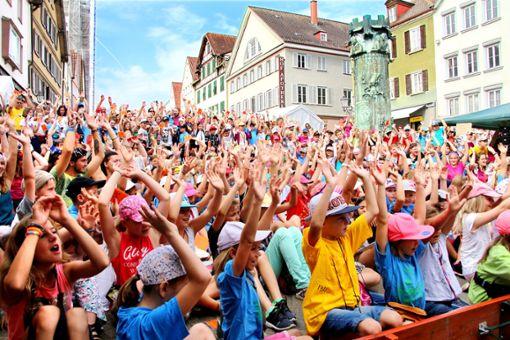 Vom 29. Juli bis 4. August verwandelt sich die Hechinger Innenstadt in eine Zauberwelt für Kinder.  Foto: Archiv Foto: Schwarzwälder Bote