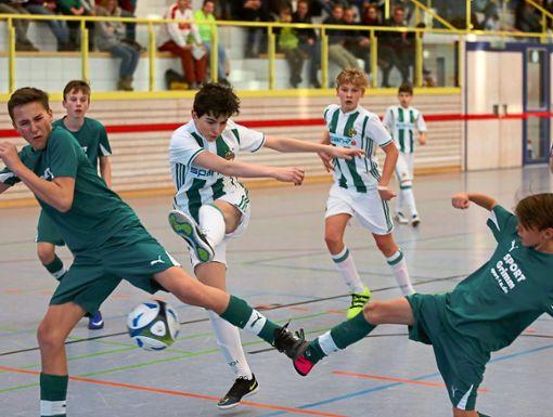 Die Haiterbacher Kuckuckshalle steht am Wochenende ganz im Zeichen des internationalen Fußballturniers. Foto: Priestersbach