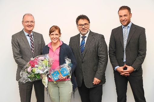 Geschäftsführer Martin Bruttel, Melanie Bengel, Geschäftsführer Thomas Pfefferle und Personalleiter Jürgen Kilgus (von links).    Foto: Klisch Foto: Schwarzwälder-Bote