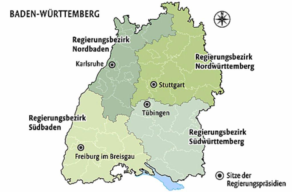 Baden Wurttemberg Grun Rot Will Landkarte Neu Zeichnen