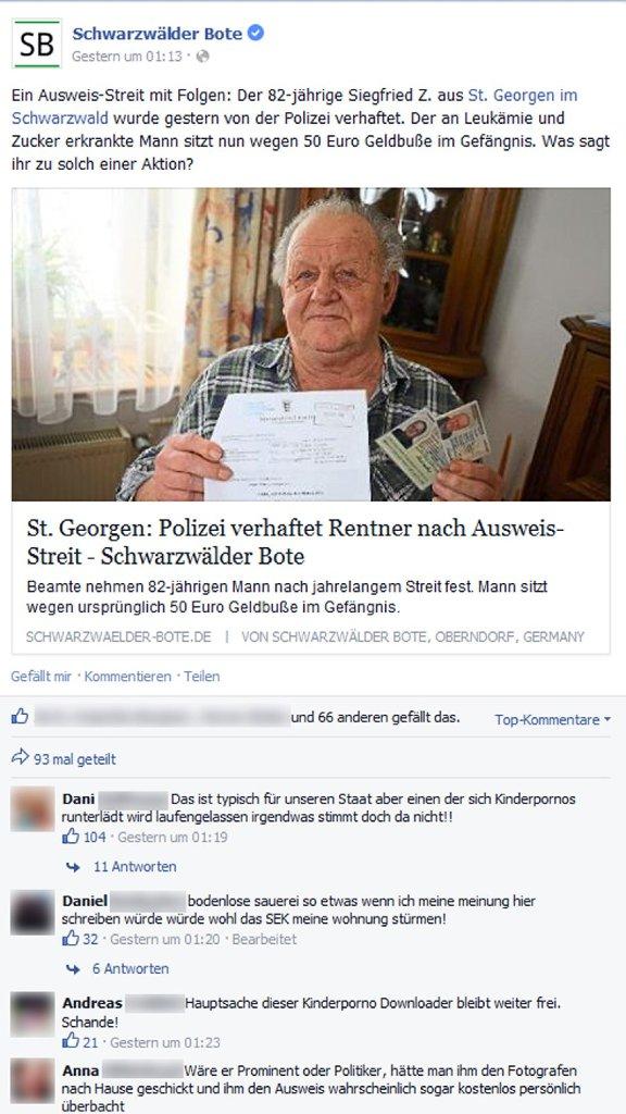 St. Georgen: Ausweis-Streit: Rentner entfacht Medien-Feuer - St ...