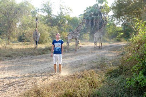 Dominik Schlegel im Nationalpark Malawisee –  der junge Albstädter  ist seit seinem ersten Besuch in Malawi fasziniert von Afrika. Foto: Schwarzwälder Bote