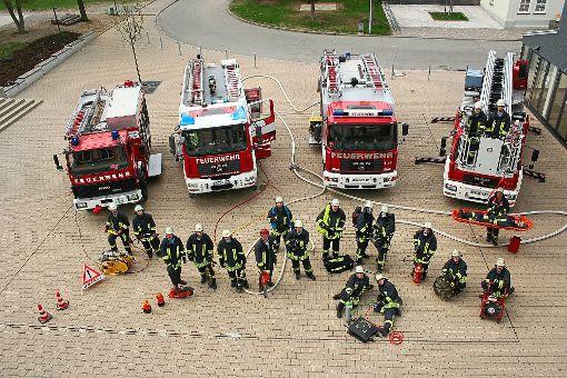 Technisch ist die Feuerwehr Rosenfeld auf dem neuesten Stand, doch die Personaldecke wird dünn. Foto: Archiv