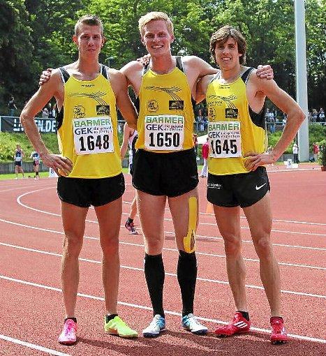 Die erfolgreiche Staffel (von links): Rico Loy, Alexander Pütsch und Benedikt Karus Foto: Schwarzwälder-Bote