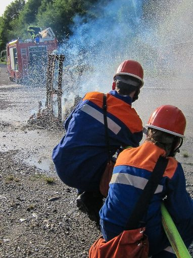 Übung der Jugendgruppe Göllsdorf   Foto: Feuerwehr Rottweil Foto: Schwarzwälder-Bote