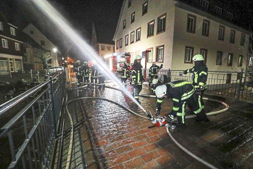 In der Nacht zum Freitag waren  die Feuerwehren  stark gefordert.    Foto: Eich Foto: Schwarzwälder Bote