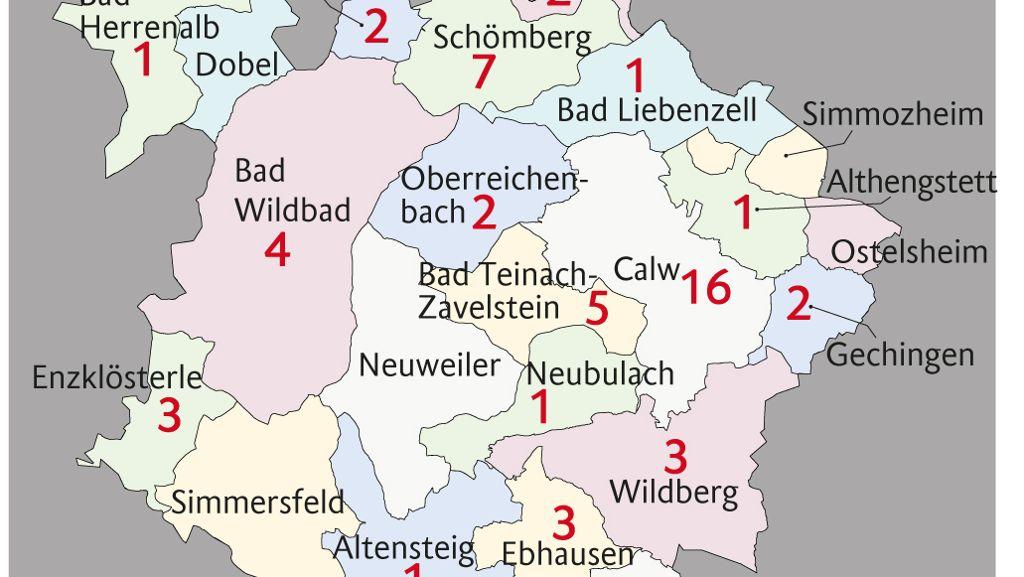Landkarte Kreis Calw