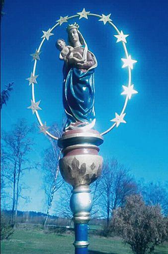 Die Mondsichel-Madonna von Dietingen.   Foto: Burkard Foto: Schwarzwälder Bote