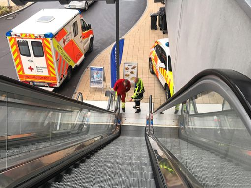 Ein schwerer Sturz ereignete sich am Donnerstagmittag im Einkaufszentrum. Foto: Lück