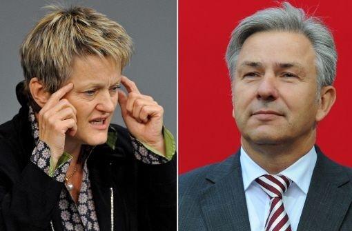 Renate Künast, Fraktionschefin der Grünen, will den Regierenden Bügermeister von Berlin, Klaus Wowereit (SPD), ablösen  Foto: dpa
