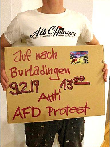 Die Alb Offensive ruft im Internet zu Protesten gegen die AfD-Veranstaltung auf. Screenshot: Hürster