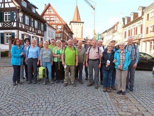 Die  Wandergruppe am Zielpunkt, in der Altstadt von Gengenbach.  Foto: SWV Foto: Schwarzwälder Bote