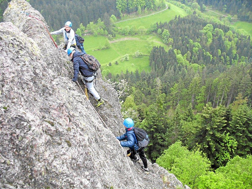 Klettersteig Schwarzwald : Freudenstadt am klettersteig die Ängste überwinden
