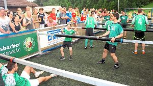 20 Teams bei XXL-Kicker-Turnier