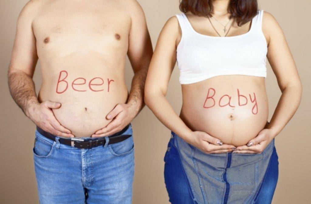 Bauch wie schwanger dicker warum sehe