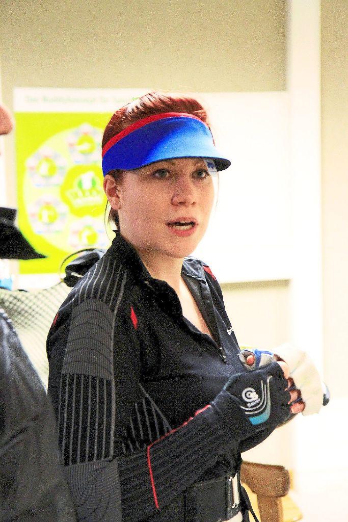 Hoffnung auf Edelmetall: Sabrina Kalb vom TV Oberlengenhardt versucht bei der deutschen Meisterschaft ihr Glück im Team SV Berg. Fotos: Kraushaar Foto: Schwarzwälder-Bote