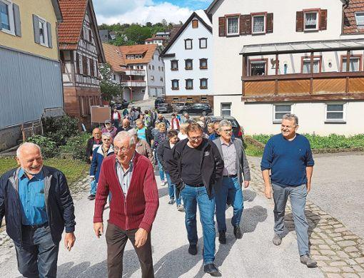 Eine stattliche Gruppe schloss sich dem Rundgang durch Sulz am Eck an.  Foto: Stadler Foto: Schwarzwälder Bote
